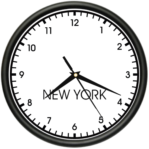 new york time wall clock world time zone clock office