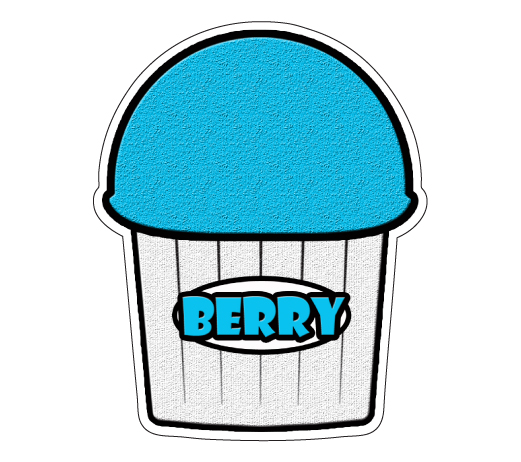 BERRY-FLAVOR-Italian-Ice-Decal-shaved-ice-cart-trailer-stand-equipment