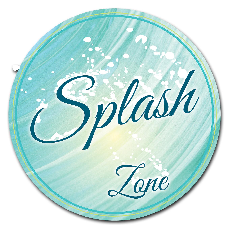 SignMission Splash Zone Circle  Corrugated Plastic Sign