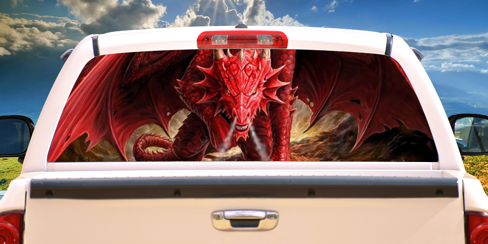 Graphics For Dragon Rear Truck Window Graphics Wwwgraphicsbuzzcom - Graphics for car windowsgraphics for see through car window graphics wwwgraphicsbuzzcom