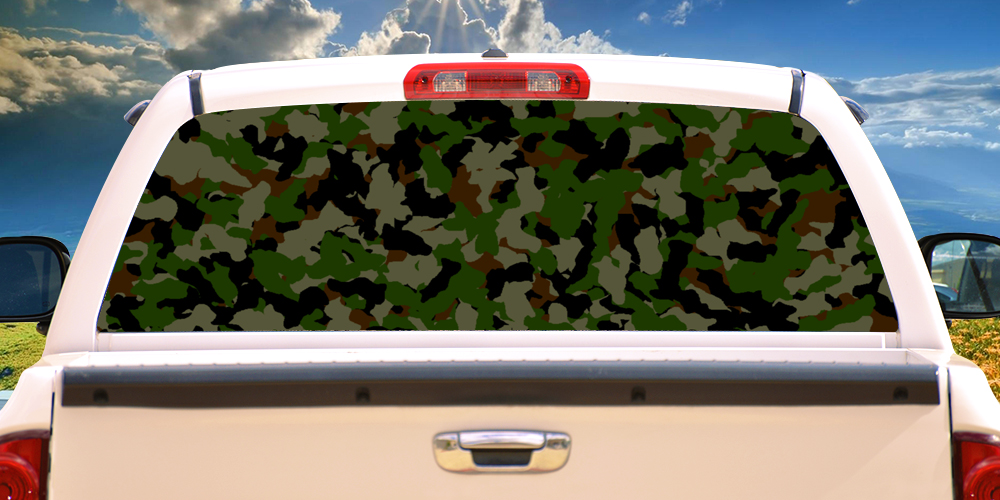 Camouflage 22 Quot 65 Quot Rear Window Graphic Camo Decal Truck