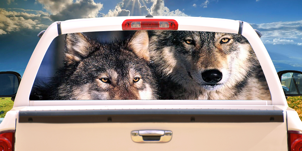 Wolves 16 Quot X54 Quot Rear Window Graphic Pickup Truck Back Film