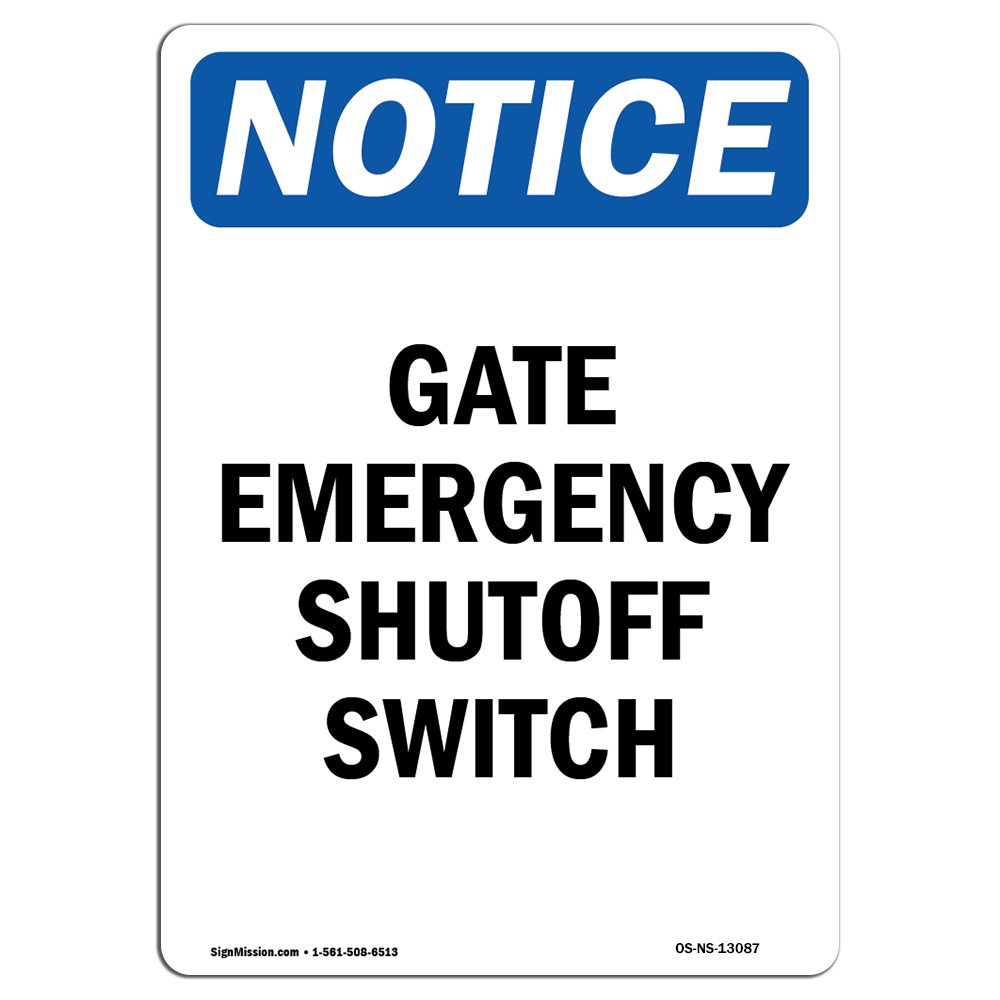 Propane Pump Switch Shutoff�Made in the USA OSHA EMERGENCY Sign