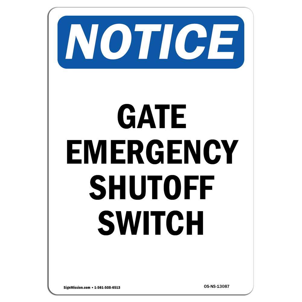 Propane Pump Switch Shutoff�Made in the USA OSHA EMERGENCY Sign