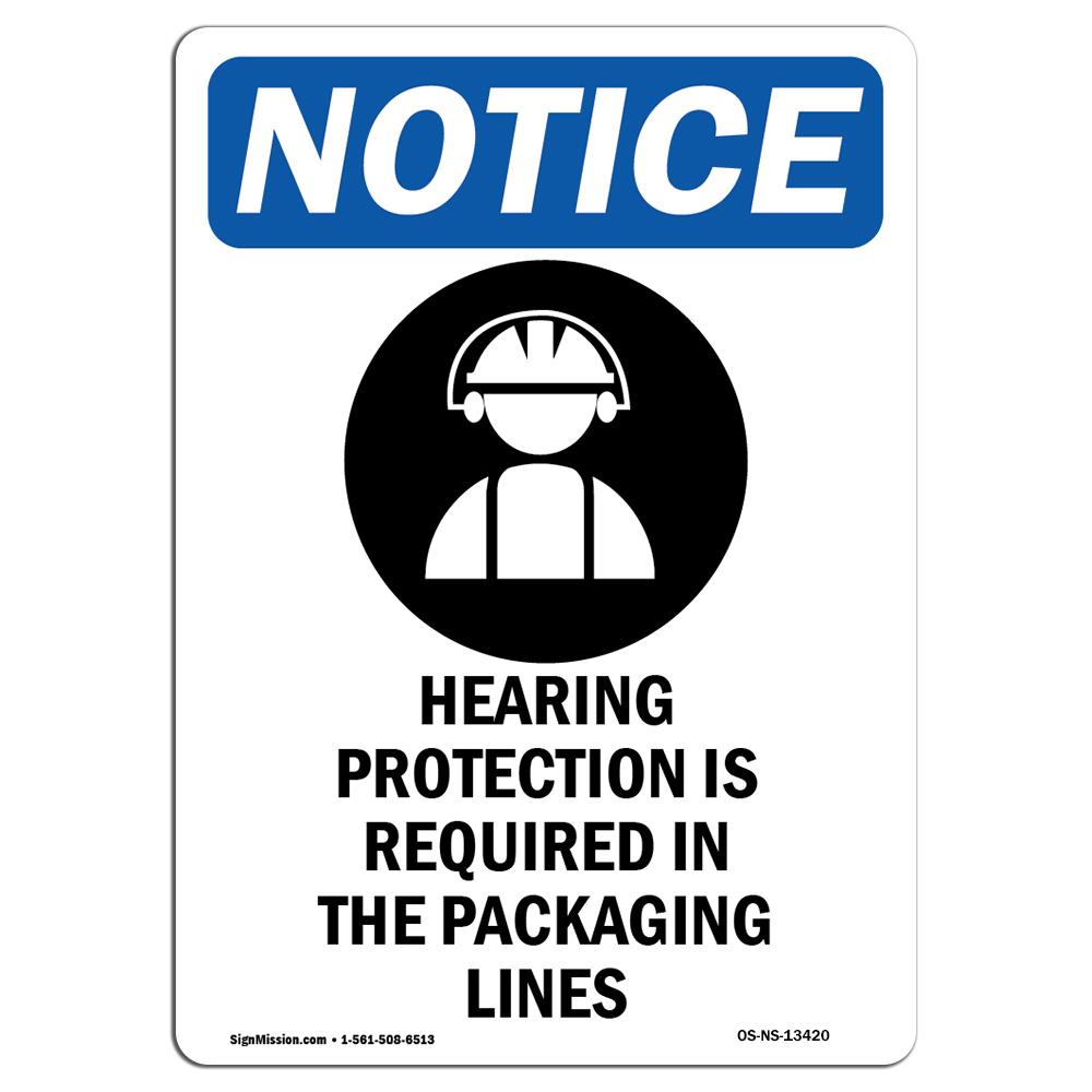 OSHA Notice Chemical PPE Station Chemical Sign With SymbolHeavy Duty