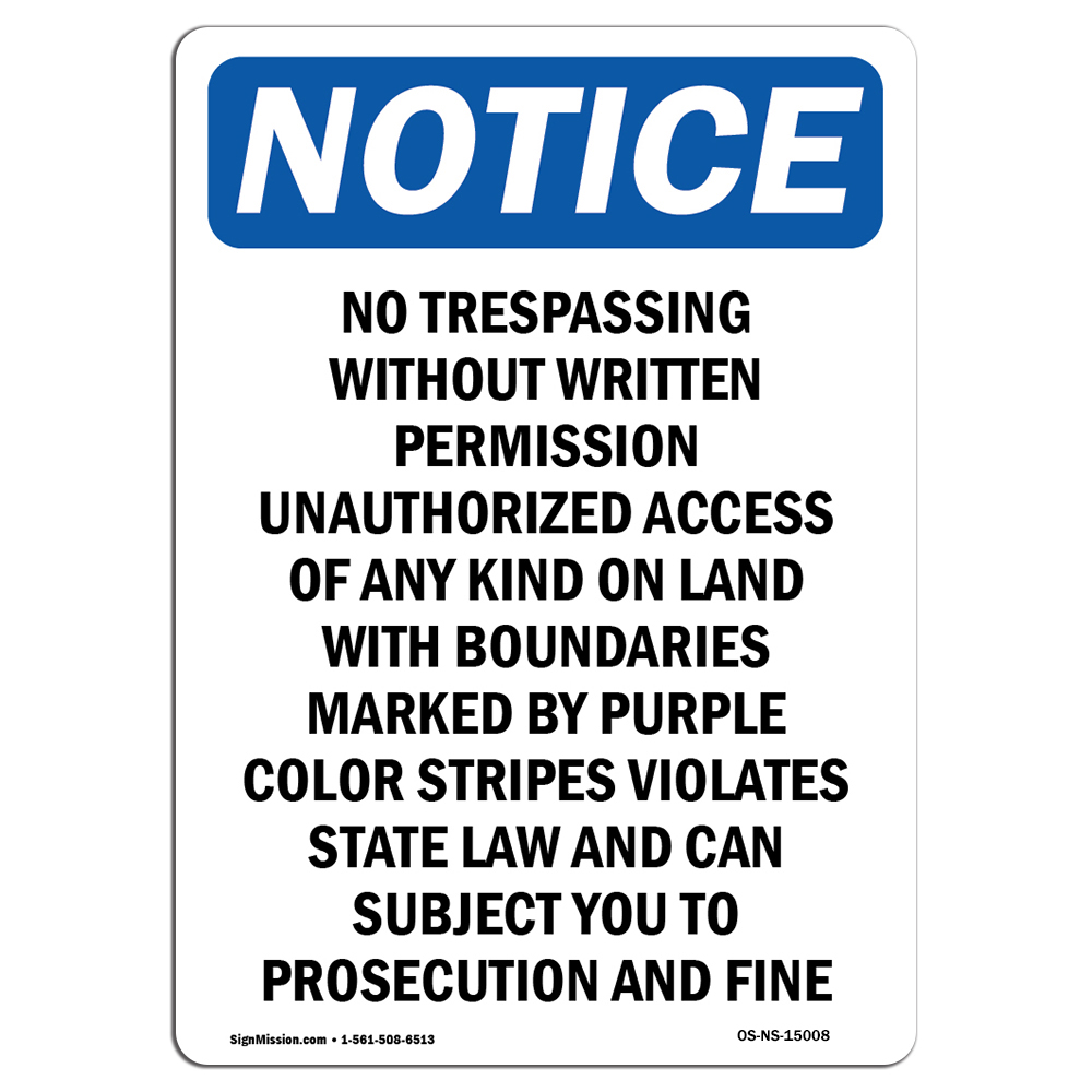 No Trespassing While Business Is Closed SignHeavy Duty OSHA Notice