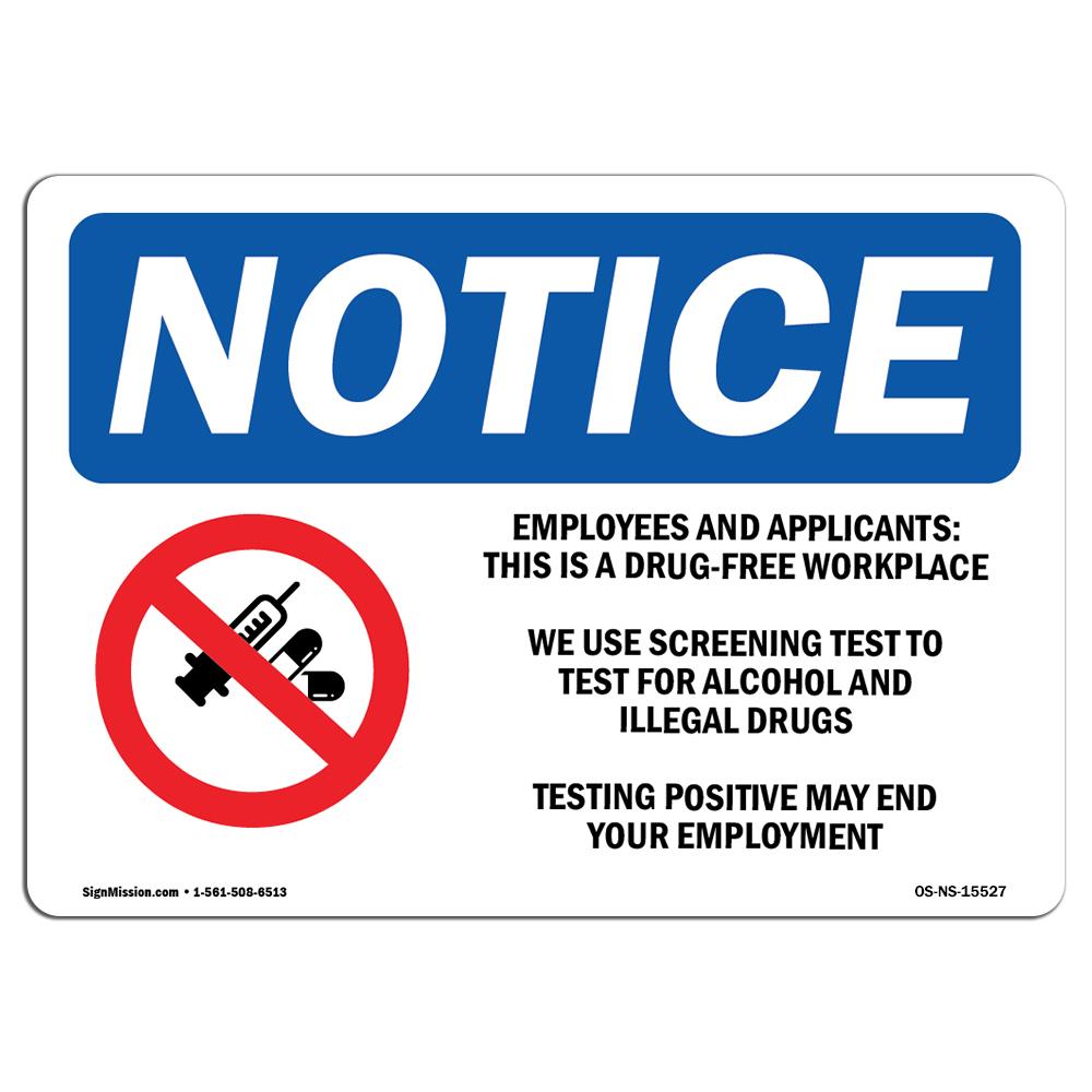 Drug-FreeMade in the USA OSHA Notice Sign