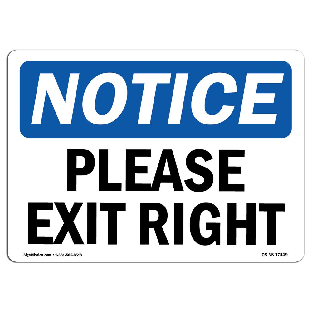 FREE SHIPPING Aluminum Sign OSHA EXIT Sign
