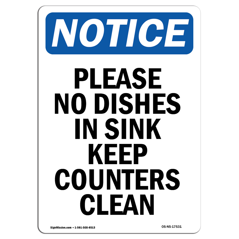Warehouse Rigid Plastic or Vinyl Label Decal This Sink for Mop Cleaning Only Choose from: Aluminum Protect Your Business OSHA Notice Sign Construction Site /Made in The USA
