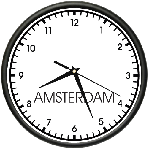 wall clocks for office. AMSTERDAM-TIME-Wall-Clock-world-time-zone-clock- Wall Clocks For Office