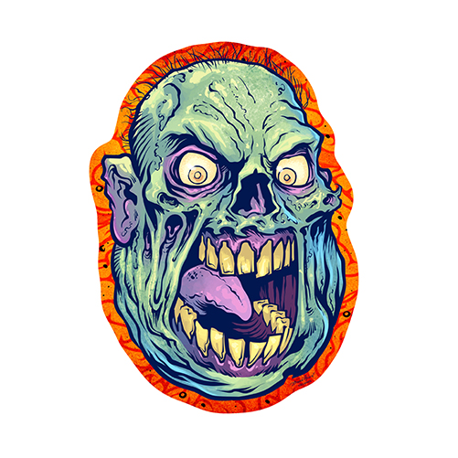 Outlaw Zombie Novelty SignFunny Home Décor Garage Wall Plastic Gag Gift