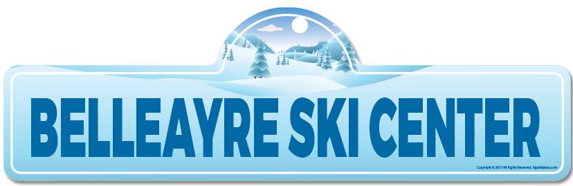 Belleayre Ski Center Street SignSnowboarder Cabin Décor for Ski Lodge