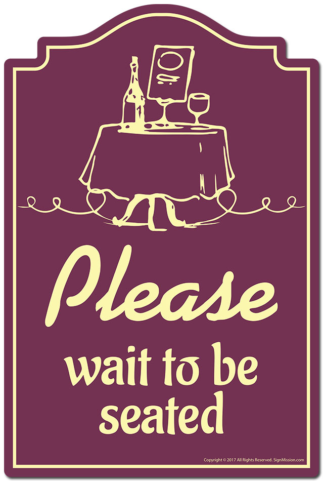 Please Wait To Be Seated Novelty Sign Funny Home Decor Garage Wall