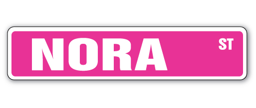 NORA Street Sign Childrens Name Room Decal| Indoor/Outdoor ...